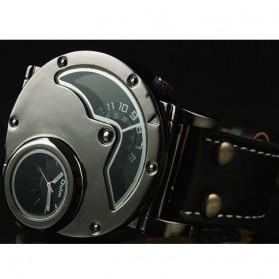 Oulm Quartz Men Leather Band Fashion Watch - 9591 - Black - 4