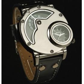 Oulm Quartz Men Leather Band Fashion Watch - 9591 - Black - 6