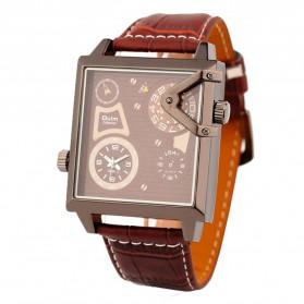 Oulm Quartz Men Leather Band Fashion Watch - 3577 - Brown