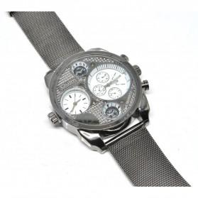 Oulm Jam Tangan Analog Stainless Steel - 9316 - White/Silver