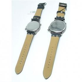 Oulm Quartz Woman Leather Band Fashion Watch - 9591L - Black - 5