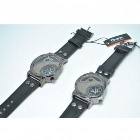 Oulm Quartz Woman Leather Band Fashion Watch - 9591L - Black - 6