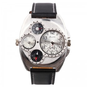 Oulm Jam Tangan Analog - 1155 - Black White - 1