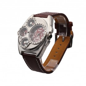 Oulm Jam Tangan Analog - 1155 - Black White - 7