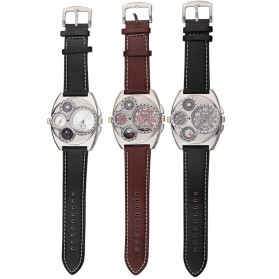 Oulm Jam Tangan Analog - 1155 - Black White - 8