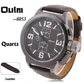 Oulm Jam Tangan Analog - 8053 - Brown