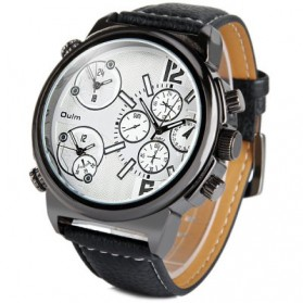 Oulm Jam Tangan Analog - 3299 - Black White