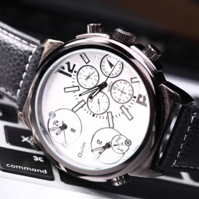 Oulm Jam Tangan Analog - 3299 - Black White - 2