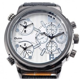 Oulm Jam Tangan Analog - 3299 - Black White - 3