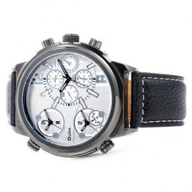Oulm Jam Tangan Analog - 3299 - Black White - 4