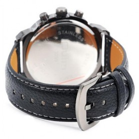 Oulm Jam Tangan Analog - 3299 - Black White - 5