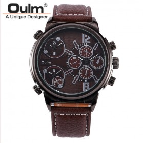 Oulm Jam Tangan Analog - 3299 - Brown