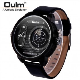 Oulm Analog Quartz Men Stainless Steel Band Fashion Watch - 9316 - Black