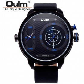 Oulm Analog Quartz Men Stainless Steel Band Fashion Watch - 9316 - Blue - 2