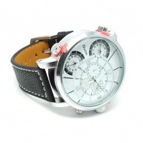 Oulm Jam Tangan Analog - HP3180 - Black White