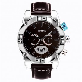 Oulm Jam Tangan Analog - HP3694 - Brown
