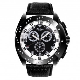 Oulm Jam Tangan Analog - HP9964 - Black White