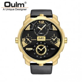 Oulm Jam Tangan Analog - HP3749 - Black Gold