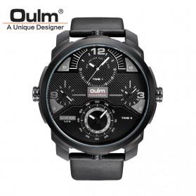 Oulm Jam Tangan Analog - HP3749 - Black/Black