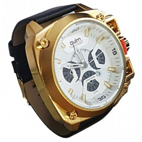 Oulm Jam Tangan Analog - HP3705 - White/Gold