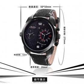 Oulm Jam Tangan Analog - HP9316 - Black/Black - 3