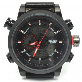 Oulm Jam Tangan Analog - HP3558 - Red/Black