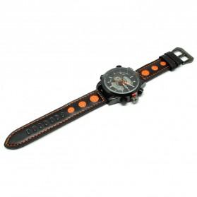 Oulm Jam Tangan Analog - HP3558 - Black/Orange - 2