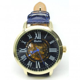 Oulm Jam Tangan Analog - HP3688 - Golden/Blue