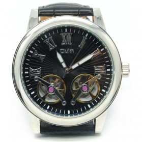 Oulm Jam Tangan Mechanical - HP3686 - Black/Black