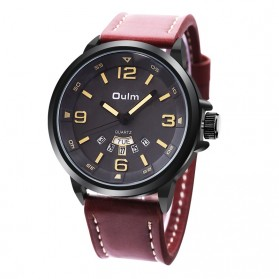 Oulm Jam Tangan Analog - HP9028 - Black/Brown
