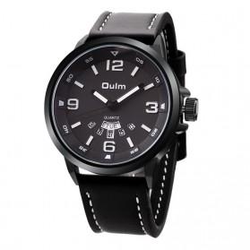 Oulm Jam Tangan Analog - HP9028 - Black/Black - 1