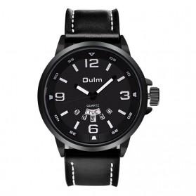 Oulm Jam Tangan Analog - HP9028 - Black/Black - 2