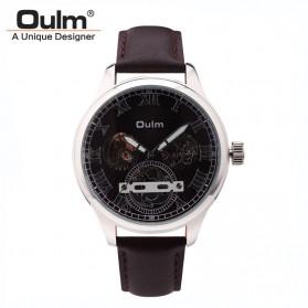 Oulm Jam Tangan Mekanikal - HP3621 - Black/Black
