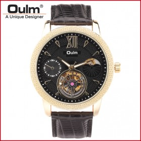 Oulm Jam Tangan Analog - HP3682 - Black Gold