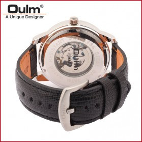 Oulm Jam Tangan Analog - HP3682 - Black Gold - 4