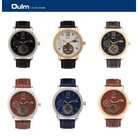 Oulm Jam Tangan Analog - HP3682 - Black Gold - 7
