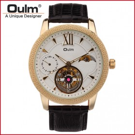Oulm Jam Tangan Analog - HP3682 - White/Gold