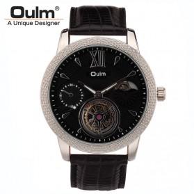 Oulm Jam Tangan Analog - HP3682 - Black/Black