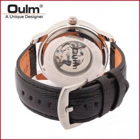 Oulm Jam Tangan Analog - HP3682 - Black/Black - 4
