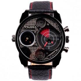 Oulm Jam Tangan Analog Desain Radar - HP9316 - Black/Red