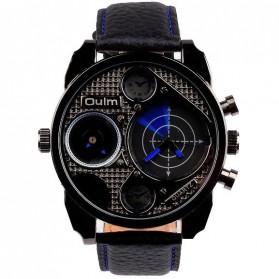 Oulm Jam Tangan Analog Desain Radar - HP9316 - Black/Blue