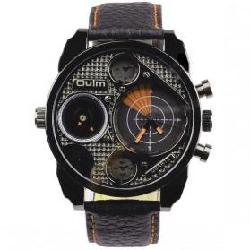 Oulm Jam Tangan Analog Desain Radar - HP9316 - Black/Orange