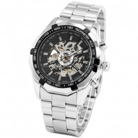 ESS Jam Tangan Mechanical - WM257 - Silver Black
