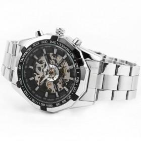 ESS Jam Tangan Mechanical - WM257 - Silver Black - 2