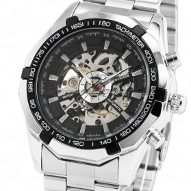 ESS Jam Tangan Mechanical - WM257 - Silver Black - 5