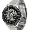 ESS Skeleton Stainless Steel Automatic Mechanical Watch - WM400 - Silver Black