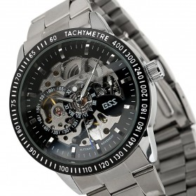 ESS Skeleton Stainless Steel Automatic Mechanical Watch - WM400 - Silver Black - 2