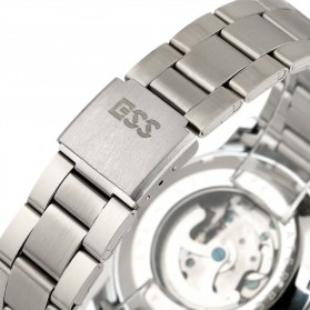 ESS Skeleton Stainless Steel Automatic Mechanical Watch - WM400 - Silver Black - 5