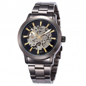 ESS Jam Tangan Mechanical - WM414 - Silver Black - 1