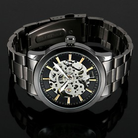 ESS Jam Tangan Mechanical - WM414 - Silver Black - 2